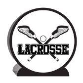 12 Units of 3-D Lacrosse Centerpiece - Party Center Pieces