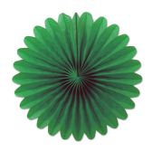 12 Units of Mini Tissue Fans green - Hanging Decorations & Cut Out