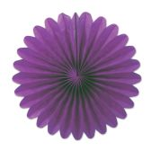 12 Units of Mini Tissue Fans purple - Hanging Decorations & Cut Out