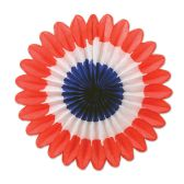 12 Units of Mini Tissue Fans red, white, blue - Hanging Decorations & Cut Out