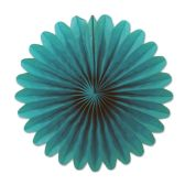 12 Units of Mini Tissue Fans turquoise - Hanging Decorations & Cut Out