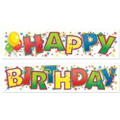 12 Units of Happy Birthday Banner 1 banner  Happy ; other banner  Birthday  - Party Banners