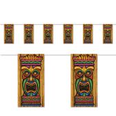 12 Units of Tiki Pennant Banner all-weather; 12 pennants/string - Party Banners