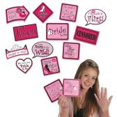 12 Units of Bachelorette Photo Fun Signs prtd 2 sides w/different designs - Hanging Decorations & Cut Out