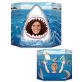 6 Units of Shark Photo Prop 1 side shark snack; other side shark attack; prtd 2 sides w/different designs