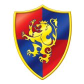 24 Units of Medieval Crest Cutout prtd 2 sides - Hanging Decorations & Cut Out