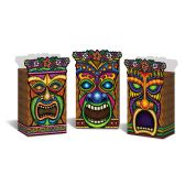 12 Units of Tiki Favor Boxes assembly required - Party Novelties