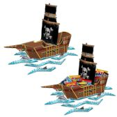 12 Units of Pirate Ship Centerpiece assembly required - Party Center Pieces
