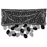 12 Units of Plastic Balloon Bag w/50 No 9 Balloons black & silver; no retail packaging