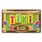 24 Units of 3-D Plastic Tiki Bar Sign - Hanging Decorations & Cut Out
