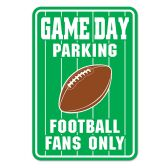24 Units of Game Day Parking Sign - Hanging Decorations & Cut Out