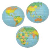 12 Units of Globe Paper Lantern - Educational Toys