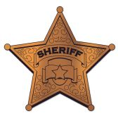 24 Units of Foil Sheriff Badge Silhouette foil 2 sides/prtd 1 side - Hanging Decorations & Cut Out