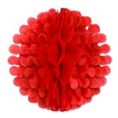 12 Units of Tissue Flutter Ball red - Hanging Decorations & Cut Out