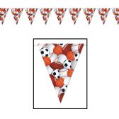 12 Units of Sports Pennant Banner all-weather; 12 pennants/string - Party Banners