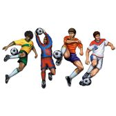 12 Units of Soccer Cutouts prtd 2 sides - Hanging Decorations & Cut Out