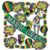 Mardi Gras Decorating Kit - 19 Pcs