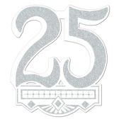12 Units of 25th Anniversary Crest gltrd 1 side - Hanging Decorations & Cut Out