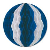 12 Units of Tissue Ball blue & white - Hanging Decorations & Cut Out