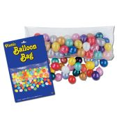 12 Units of Plastic Balloon Bag w/100 Balloons no retail packaging