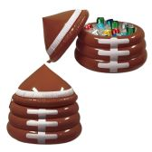 Inflatable Football Cooler holds apprx 24 12-Oz cans