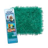 12 Units of Pkgd Fringed Tissue Mats teal