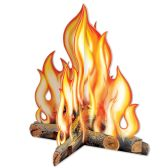 12 Units of 3-D Campfire Centerpiece assembly required - Party Center Pieces