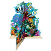 12 Units of 3-D Coral Reef Centerpiece 10 dangling fish included; assembly required - Party Center Pieces