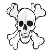 12 Units of 3-D Skull & Crossbones Centerpiece assembly required - Party Center Pieces