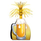 12 Units of Beer Mug Centerpiece - Party Center Pieces