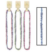 12 Units of Happy Anniversary Beads-Of-Expression asstd colors - Party Necklaces/Bracelets/Headpiece
