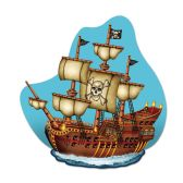 12 Units of Pirate Ship Wall Plaque prtd 2 sides