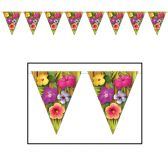 12 Units of Luau Pennant Banner all-weather; 12 pennants/string - Party Banners