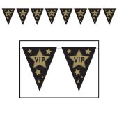 12 Units of VIP Pennant Banner all-weather; 12 pennants/string - Party Banners