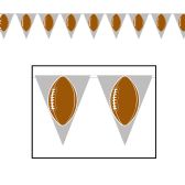 12 Units of Football Pennant Banner all-weather; 12 pennants/string - Party Banners