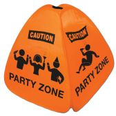 12 Units of Party Zone Collapsible Floor Sign 4-sided pop-up nylon