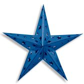 12 Units of Dimensional Foil Star blue