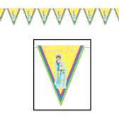 12 Units of Showers Of Joy Pennant Banner all-weather; 12 pennants/string - Party Banners