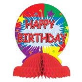 12 Units of Happy Birthday Centerpiece - Party Center Pieces