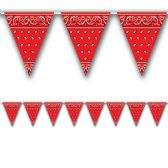 12 Units of Bandana Pennant Banner red; all-weather; 12 pennants/string - Party Banners