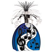 12 Units of Musical Notes Centerpiece black & silver - Party Center Pieces