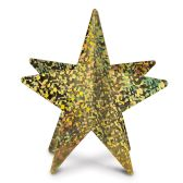 12 Units of 3-D Prismatic Star Centerpiece gold; assembly required - Party Center Pieces