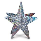 12 Units of 3-D Prismatic Star Centerpiece silver; assembly required - Party Center Pieces