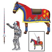 12 Units of Jointed Jouster horse & lance cutouts included - Bulk Toys & Party Favors