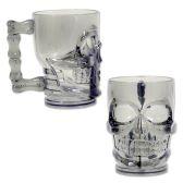 12 Units of Plastic Skull Mug