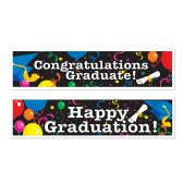 12 Units of Graduation Banners asstd designs - Party Banners