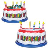 6 Units of Inflatable Birthday Cake Cooler holds apprx 24 12-Oz cans