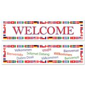12 Units of International Welcome Banners asstd designs - Party Banners