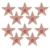 24 Units of Mini  Star  Cutouts prtd 2 sides - Hanging Decorations & Cut Out