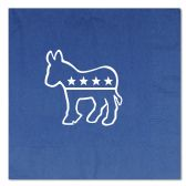 12 Units of Democratic Luncheon Napkins (2-Ply)  blue